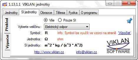 Náhled do programu VIKLAN JEDNOTKY - přehled všech dostupných jednotek