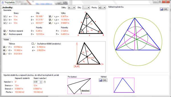 Náhled do programu VIKLAN JEDNOTKY - vlastnosti trojúhelníku